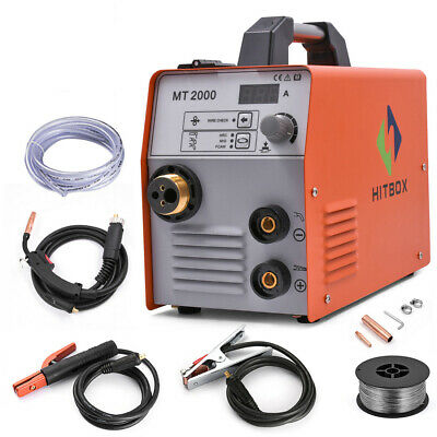 Hitbox Mig Welder Mig Arc Tig 220v Stainless Gas Gasless Welding Machine Mt2000