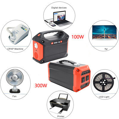 100W 300W Portable Solar Generator Power Supply Charged Inverter For Solar Panel