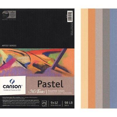 Canson Mi-Teintes Pastel Paper Assortments - 9x12