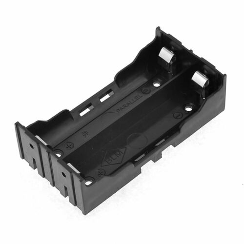 Black Battery Holder 4 Pins for 2x18650 Rechargeable Li-ion Batteries DT