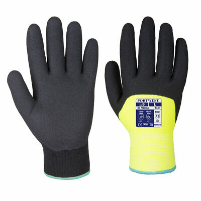 Winter Gloves Thermal Lined Safety Work Nitrile Cold Glove 2 Pair A146