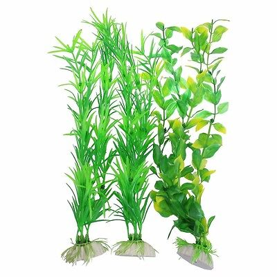 3-Piece Aquarium Decor Fish Tank Decoration Ornament Artificial 9.8-Inch Tall