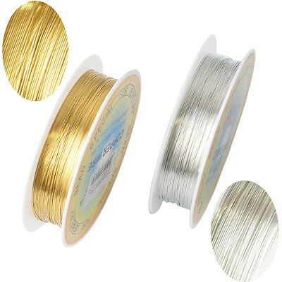 New Plated Gold Silver Cord DIY Jewelry Rope String Thread Iron Wire 0.2 - 1 mm - Gold String