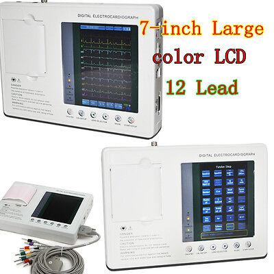 Fda 7 12 Lead 3 Channel Electrocardiograph Ecgekg Machine Interpretation Usa
