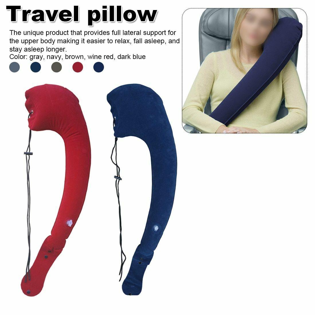 Travel Pillow Ergonomic Neck Adjustable Body Inflatable Offi