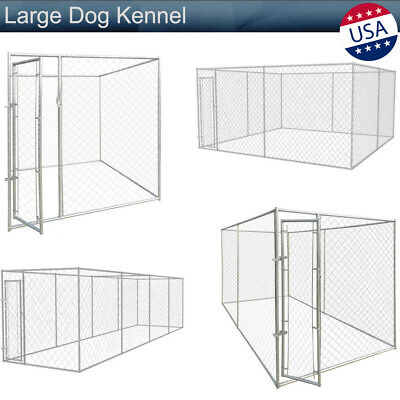 Large Dog Kennel Outdoor Covered Heavy Duty Pet Big Small Dog Cage Fence