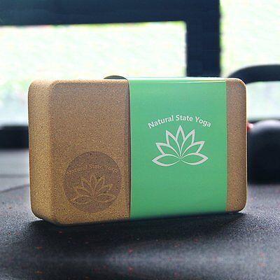 "Cork Yoga Block (3"" x 6"" x 9"") (Eco Friendly!) Free Shipping"
