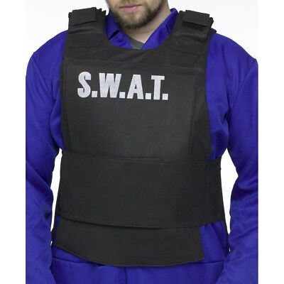 Fun World Police SWAT Adult Costume Vest, Black, Standard Size | 90189](Mens Halloween Swat Vest)
