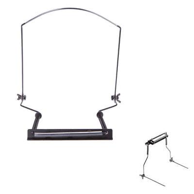 10 Hole Adjustable Black Harmonica Neck Rack Mount Holder Stand Fits Hohner