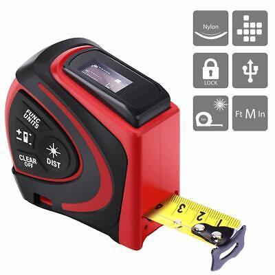 Vivohome Lcd Digital Real-time Measure Tape Laser Distance Meter Rangefinder Usb