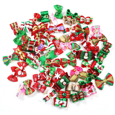 Wholesale Christmas Puppy Dog Hair Bows Pet Dog Grooming Dog Hair Accessories - Wholesale Christmas Accessories