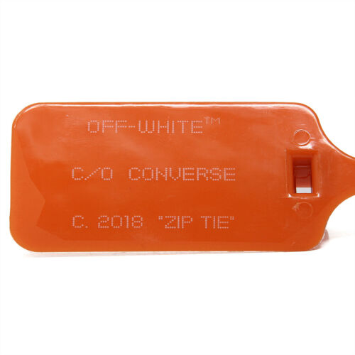 New Off White X Converse 2018 Zip Tie / Tag Orange