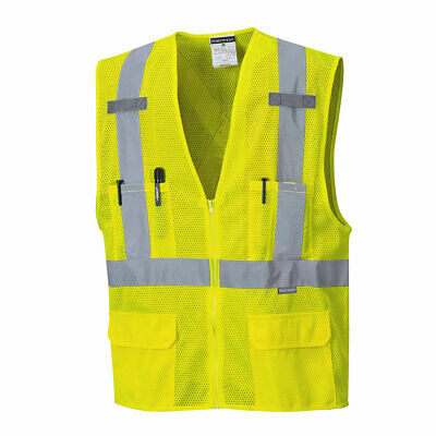 Portwest US370 Atlanta Hi Vis Mesh Safety Vest with Reflecti