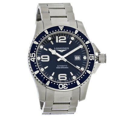 Longines Hydroconquest Mens Blue Swiss Automatic Watch L3.841.4.96.6