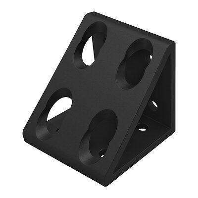 8020 Inc T-slot Aluminum 8 Hole Gusseted Bracket 15 Series 4338-black N