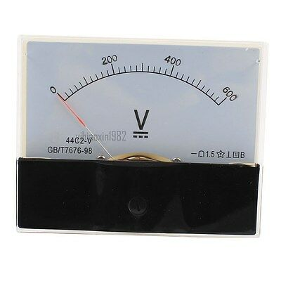 New 1pcs Class 1.5 Dc 0-600v Analog Voltage Voltmeter Panel Volt Meter 44c2-v
