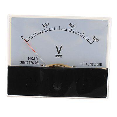 1pcs Dc 600v Analog Panel Volt Voltage Meter Voltmeter Gauge 44c2 Dc 0-600v