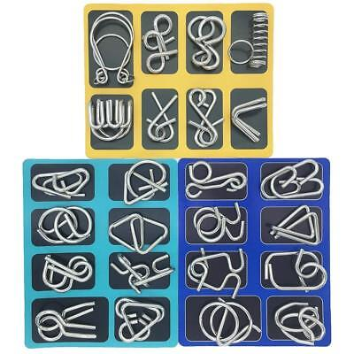 Kid Brain Teasers (24 set Brain Teasers Metal Puzzles for Adults Nail Puzzle Brain)