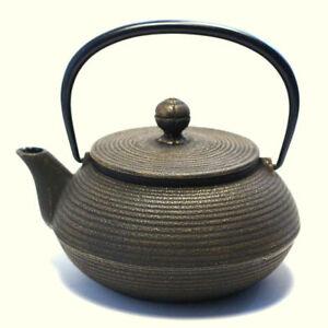 Japanese cast iron teapot Tetsubin Iwachu Nambu Handmade Blacks zen