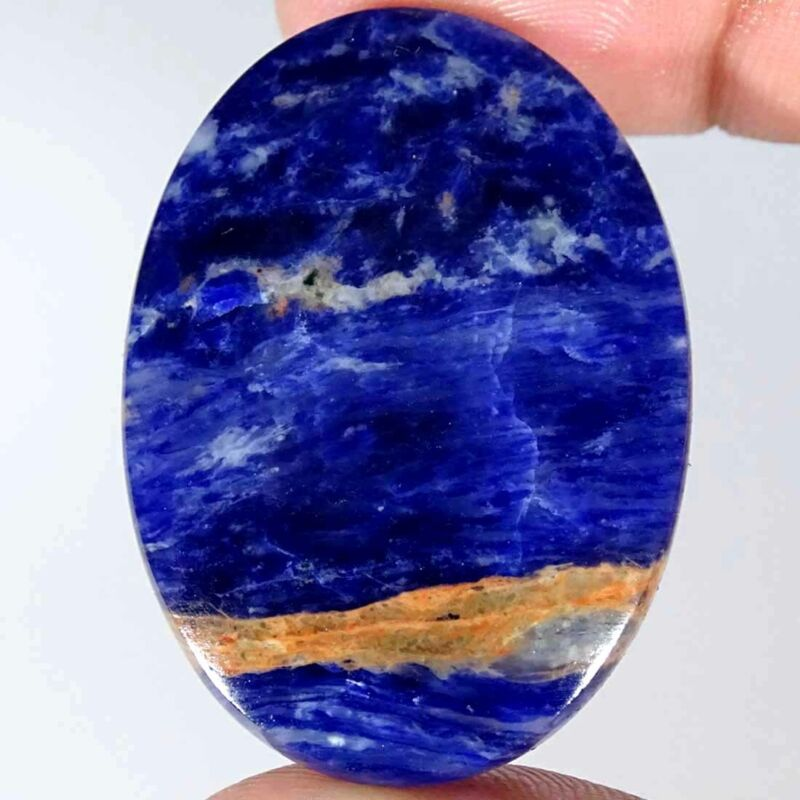 46.80Cts Natural Blue Sodalite Oval Cabochon Loose Gemstone