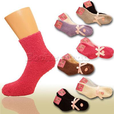 Neu 2 Paar warme extra weiche Kuschel Socken Schlafsocken Bett Strümpfe