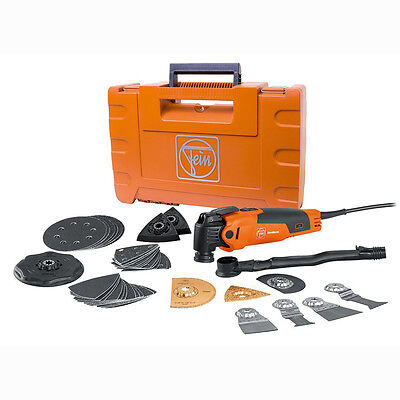 FEIN 72295261090 FMM350QSL MultiMaster Top 350W Oscillating Multi-tool Kit