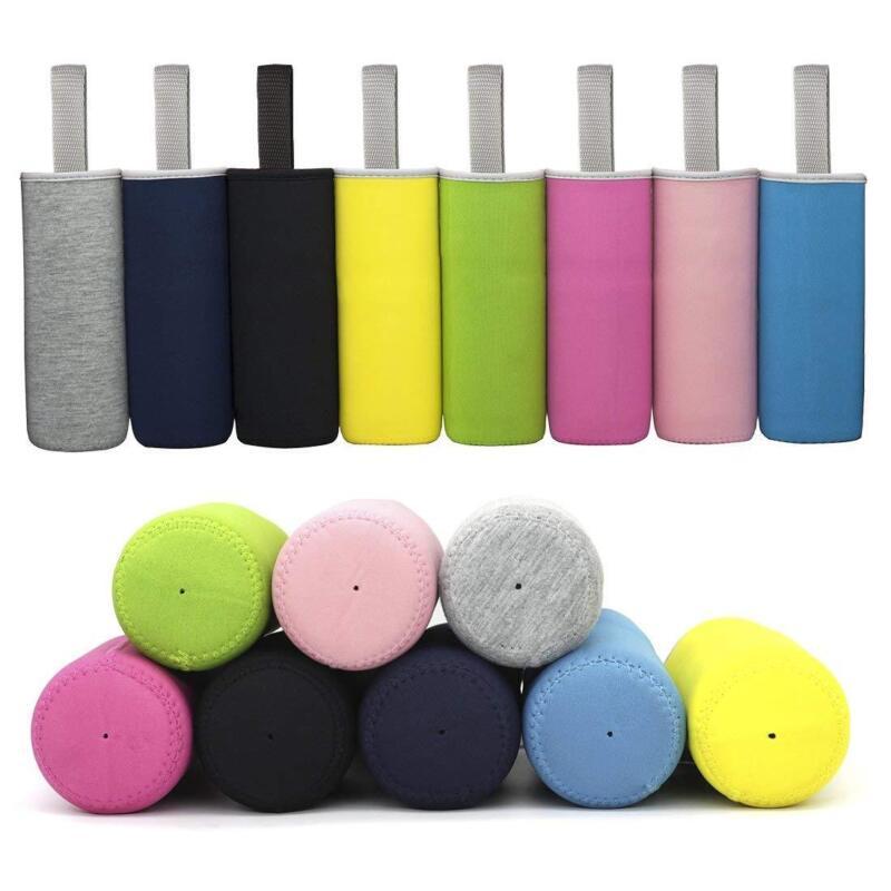 8 Pack 12 oz - 24 oz Neoprene Water Bottle Sleeve 16.9 oz Insulated Bottle Cover