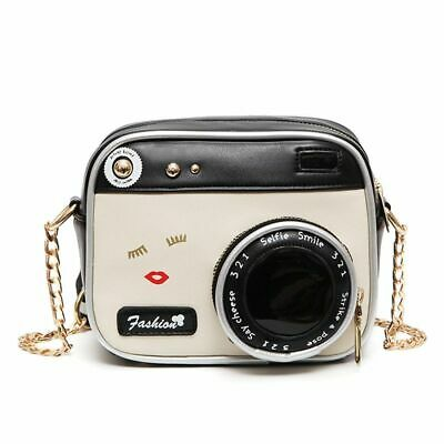 Women's Vintage Camera Style Shoulder Bag Chain Messenger Crossbody Handbag Gift Messenger Style Camera Bag