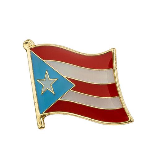 """Puerto Rico Flag Lapel Pin 3/4"""" x 5/8""""  Hat Tie Tack Badge Pin Free Shipping"""