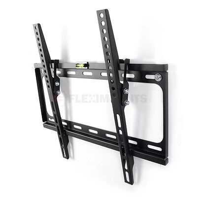 "Tilt Tilting Ultra slim TV Wall Mount Bracket for 26 32 39 40 42"" 50"" 55"" inch"
