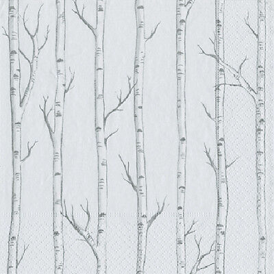 Birch silver birch trees Caspari paper table lunch napkins 20 in pack