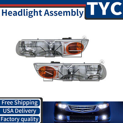 TYC 2X Left + Right Headlight lamp Assembly Replacement For 2000-2002 Saturn -