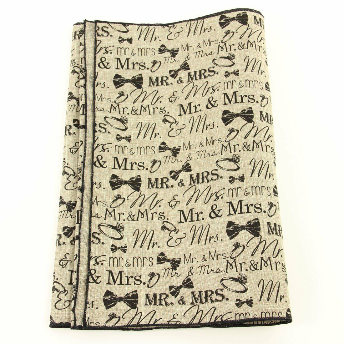 imports mr and mrs table runner beige