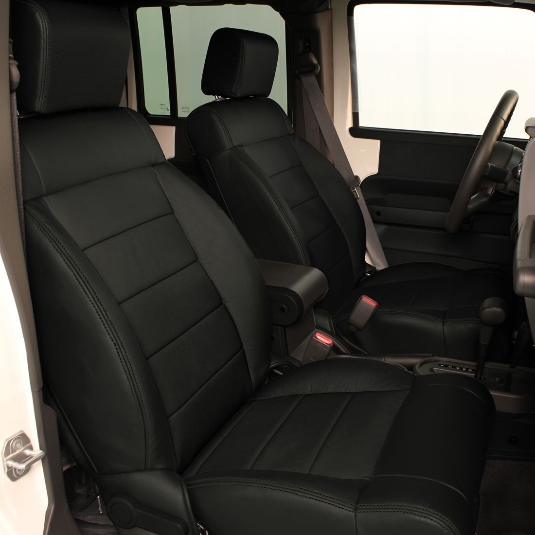 Katzkin Black Repl Leather Interior Seat Covers Fits 2011 2012 Jeep