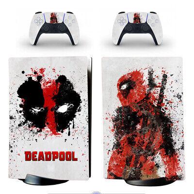 PS5 Digital Edition Consoles Vinyl Skins Decals Stickers Deadool Wilson Marvel