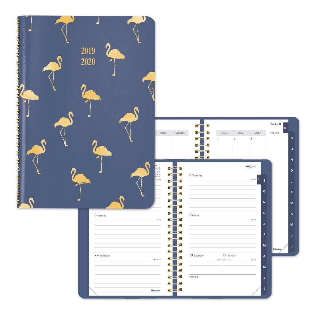 Blueline Academic Weekly Planner Funsie 2019-2020 - English