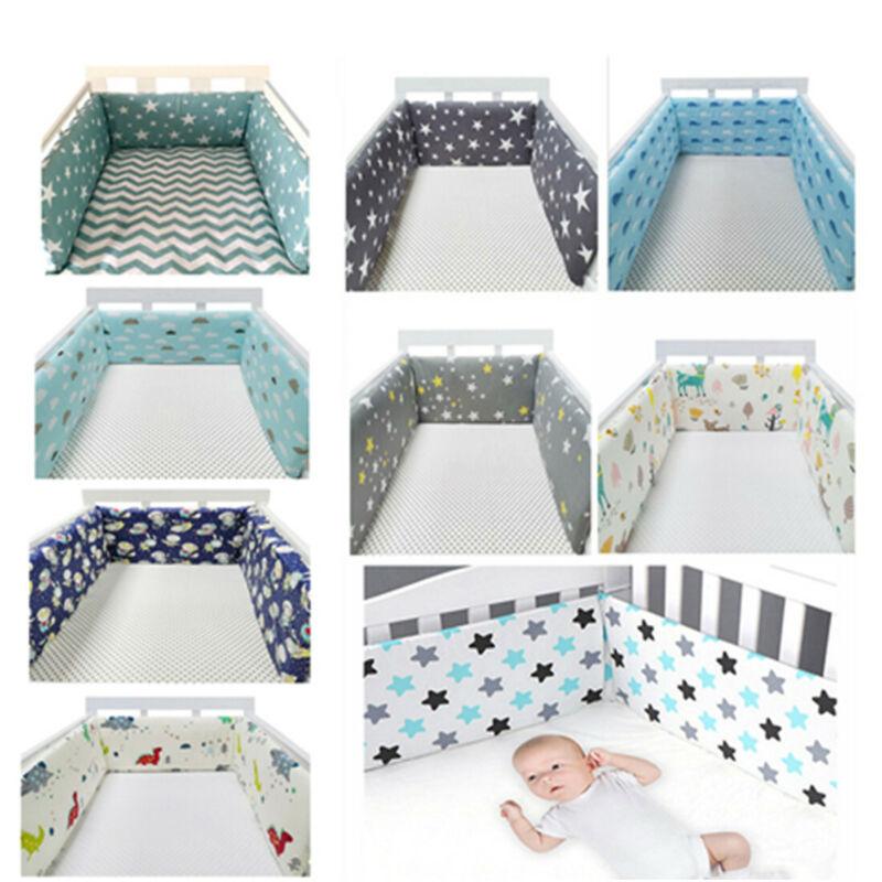 "1PC 78"" Baby Safe Crib Bumper Pad Washable Portable Standard Crib Liners Padding"