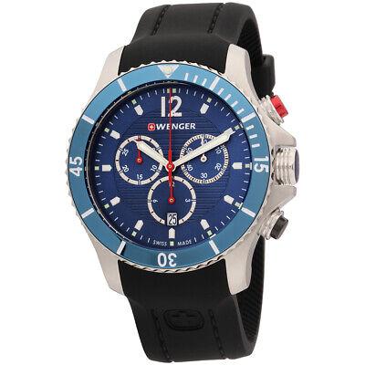 Wenger Sea Force Quartz Movement Blue Dial Men's Watch 01.0643.110