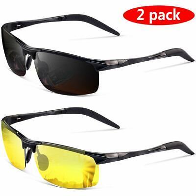 Polarized Sunglasses for Men Night Driving Gl Black,yellow Lens Width2.56 (Lens Width)