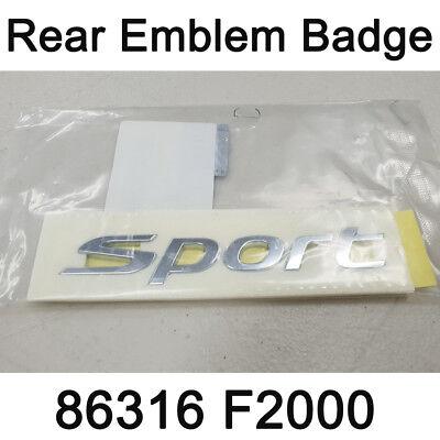 OEM Pinin Farina Letter Decal Emblem Badge 1Pcs for HYUNDAI 2003-2008 Tiburon