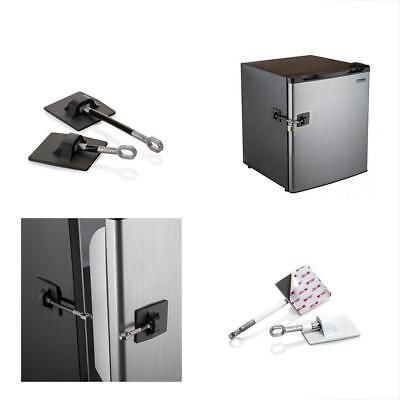 Mini Lockers For Kids (Refrigerator Door Lock Kit Mini Fridge Locker Guard W/O Padlock For Child Safety )