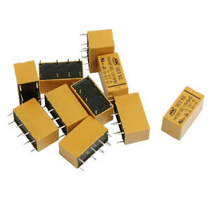 10 x DC 12V Coil DPDT 8 Pin 2NO 2NC Mini Power Relays PCB Type HK19F