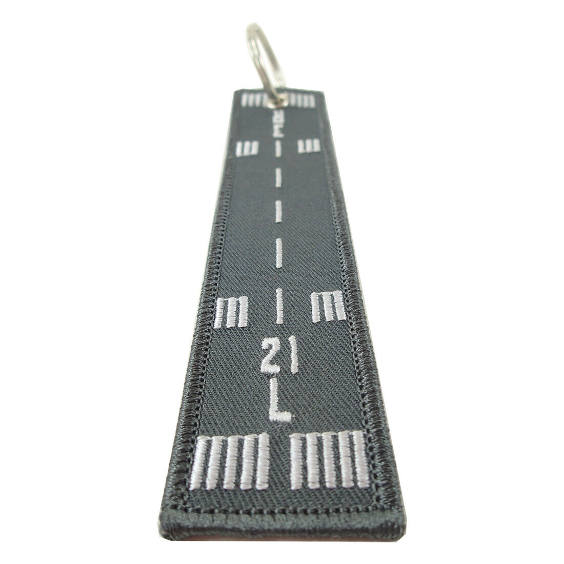 Luso Aviation Runway 21L-3R Embroidered Key Chain