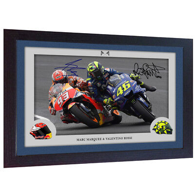 Valentino Rossi Superbikes autograph print signed photo VALENTINO ROSSI FRAMED for sale  Shipping to Ireland