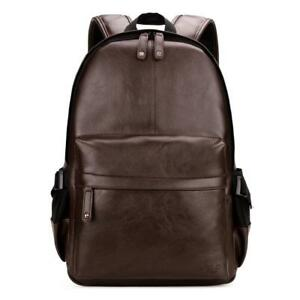 VICUNA POLO Man Leather Backpack Laptop Bag For 15inch Business Backpack For
