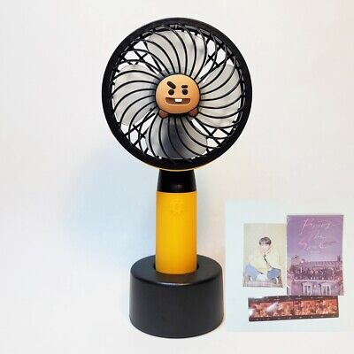 BTS x BT21 Official Portable SHOOKY Mini Handy Fan With FREE J-HOPE PHOTOCARD