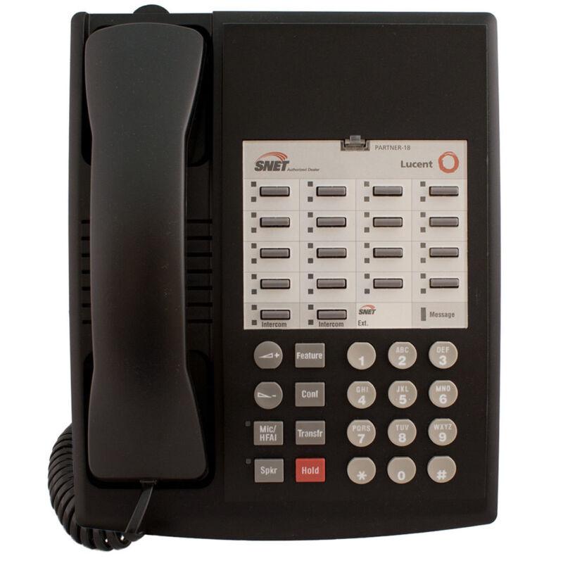 (Lot of 3) Avaya Lucent AT&T Partner 18 Euro Phone Black - Refurbished.