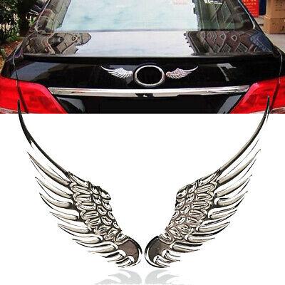 1 Pair Fashion Metal Stickers 3D Angel Eagle Wings Car Sticker Motor -