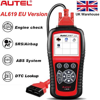 Autel AL619 Car Fault Code Reader OBD2 Auto Diagnostic Scanner ABS SRS Engine GB