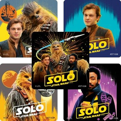 Solo Stickers x 5 - Star Wars Stickers - Favours and Loot Bags Ideas - Birthday - Star Wars Birthday Ideas